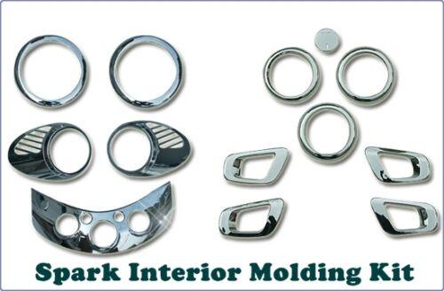 2009~2012 Chrome Interior Molding Kit trimfor Chevrolet Spark Matiz Creative