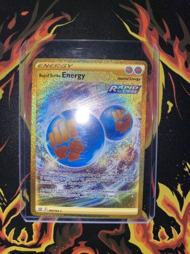 RAPID STRIKE ENERGY 182/163 Gold Secret Rare.