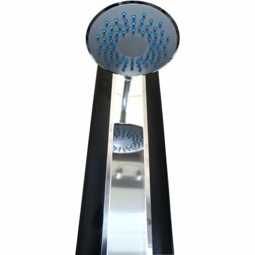 Solardusche aus ALU im edlen Design mit Regenwalddusche Pooldusche Gartendusche