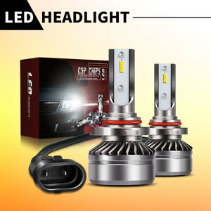 TURBO-12000LM-6000K-Super-Bright-LED-Headlight-9005-High-Low-Beam-Bulbs-White