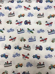 Pottery Barn Kids Transportation Twin Flat Sheet Cars