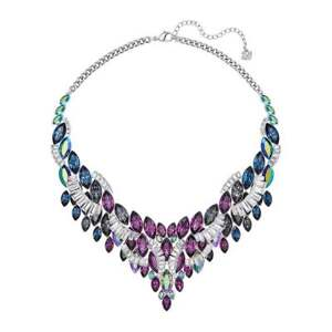 b0c5abfd5 Image is loading Swarovski-Cosmic-Large-Statement-Necklace-Multi-Colored
