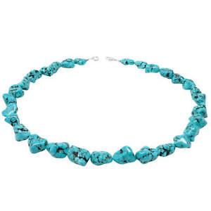 Halskette-Kette-Collier-aus-Tuerkis-Howlith-Halsschmuck-Natursteine-Damen-50cm