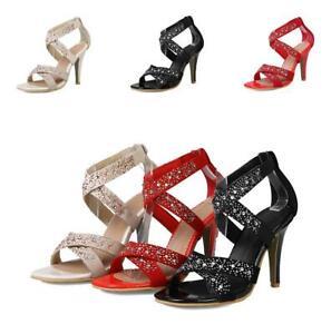 women wedding sandal shoes cross strappy rhinestones