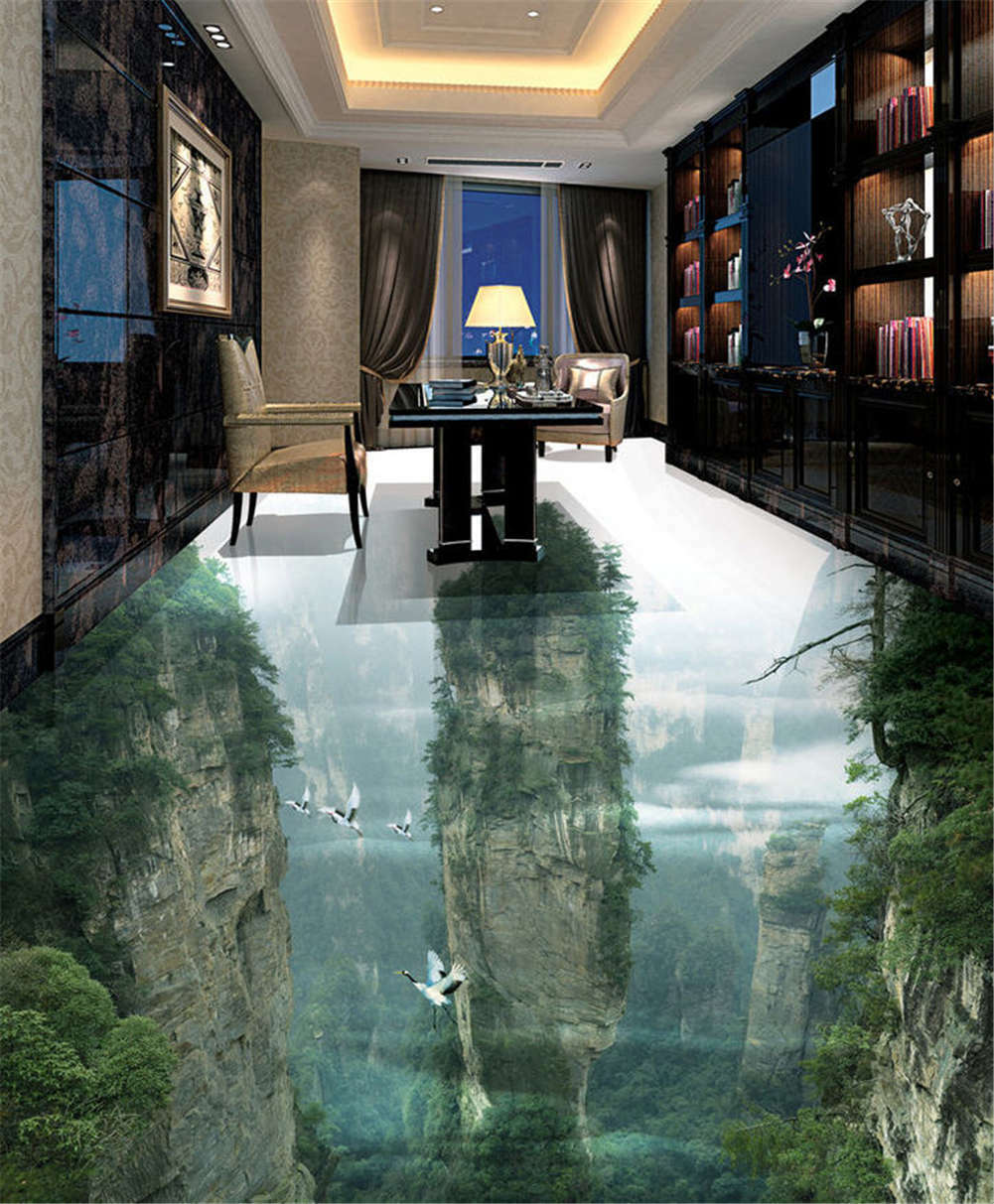 Harm Of Nature 3D Floor Mural Photo Flooring Wallpaper Home Print Decoration