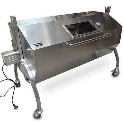 Large Stainless Steel 60KG BBQ Charcoal Pig Spit Rotisserie Barbeque