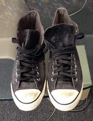 CONVERSE JOHN VARVATOS LIMITED EDITION STUDDED HI TOP BLACK/WHITE 122522 US 9.5