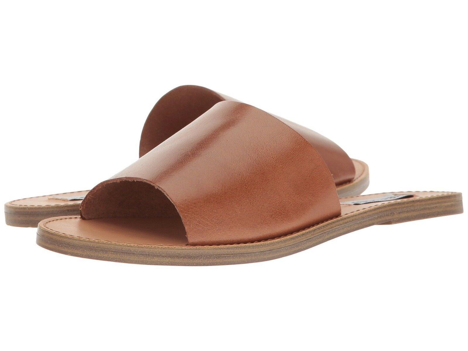 5012ea4b1f4c Steve Madden Grace Slide Sandals Cognac Pelle Size 7.5 nzgkrl2327 ...