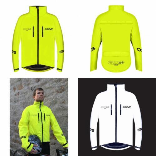 Proviz riflettono 360 CRS Gents colore sistema Riflettente Ciclismo Giacca Cappotto Giallo