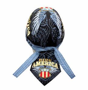 Ride-America-Flag-Eagle-Doo-Rag-Head-Wrap-Cap-Biker-Durag-Sweatband-Capsmith