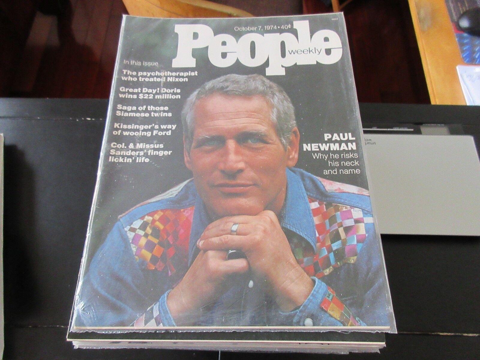 PAUL NEWMAN , People Weekly , 10/7/74, Col. Sanders , K