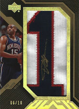 2007-08 Vince Carter UD Black JERSEY NUMBER 1 AUTOGRAPH #6/10 NEW JERSEY NETS
