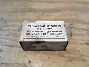 1250-9  1D-1074-F18 L-1061 Two Replacement Shoes For Type Mandrel No Sunnen No