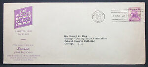 US-Adv-Cover-FDC-Marietta-Sesquicentennial-Stamp-3c-USA-First-Day-Cover-H-7537