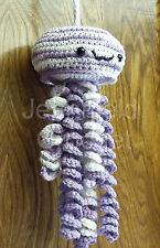 Handmade Crochet Jellyfish Decoration / Toy / Photo Prop - Pansy & Fresh Lilac