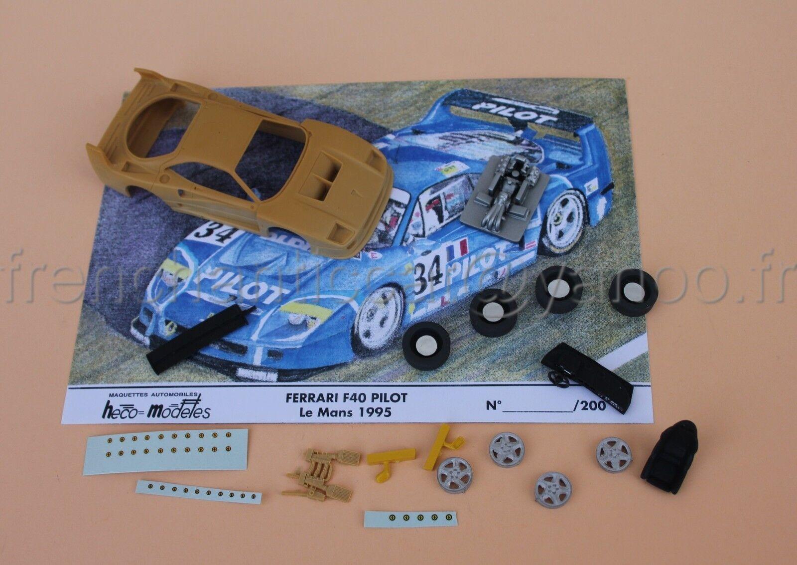 KG Voiture Ferrari F40 Le mans resine miniature collector 1 43 Heco modeles