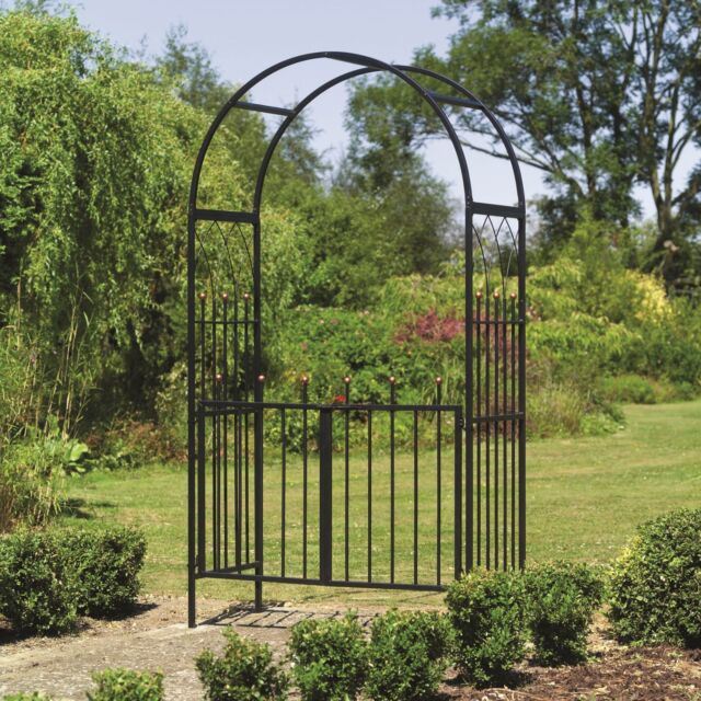 Delicieux Westminster Metal Garden Arch And Gates   Garden Arches With Gate Way