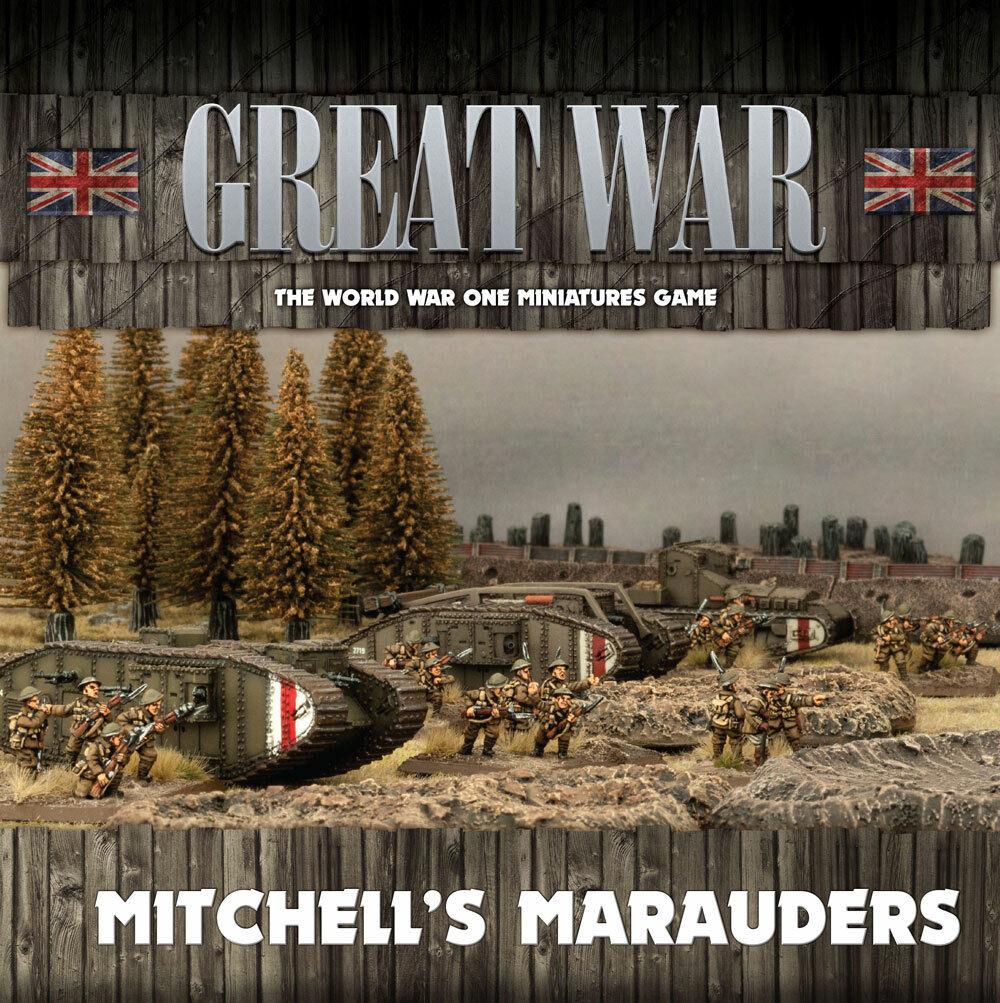 Flames of War EntièreHommest neuf dans sa boîte  grande guerre  Mitchell's Maraudeurs GBRAB 02  détaillants en ligne