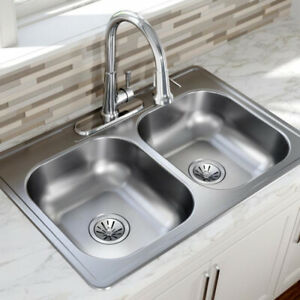 Fantastic Details About Double Bowl Kitchen Sink Stainless Steel Dual Basin Drop In 22 Gauge 33 X 22 Download Free Architecture Designs Terchretrmadebymaigaardcom
