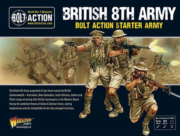 8TH ARMY STARTER ARMY - BOLT ACTION - WARLORD GAMES