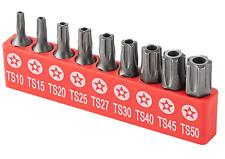 9pc Torx Star 5 Point Security Tamper Proof Driver Bit Set T10 152025273