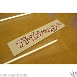 COACHMAN Mirage - (STYLE 2) - Caravan Name Stickers Decals Graphics - PAIR