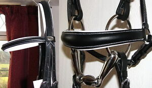 FSS Comfort Padded Crownpiece Dressage Bridle DROP Hanoverian Baroque Noseband