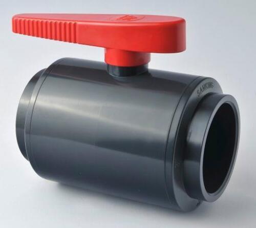 PVC U Compacto soldadura solvente de válvula de bola 20 25 32 40 50 63 mm Pez Koi Estanque Válvulas