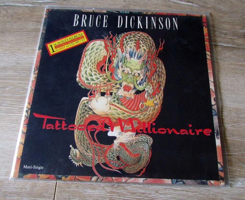 """Maxi-single 12"""", BRUCE DICKINSON, TATTOOED MILLIONAIRE"""