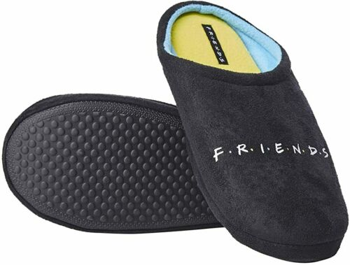Friends Black /& Yellow Logo Slippers Unisex SUPER COMFY With Gripper Soles