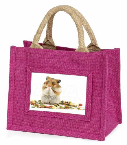 Lunch Box Hamster Little Girls Small Pink Shopping Bag Christmas Gift, HAM-1BMP