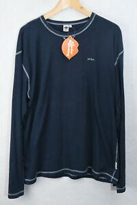 Fat Face Herren T Shirt Mountain Logo Face Langarm Lose Fit Large p90