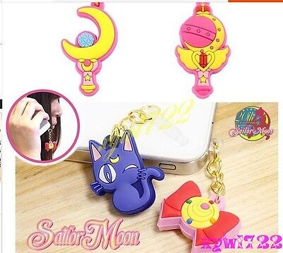 Sailor Moon Accessory for iPhone HTC SAMSUNG Cellphone 3.5 mm Dust Plug