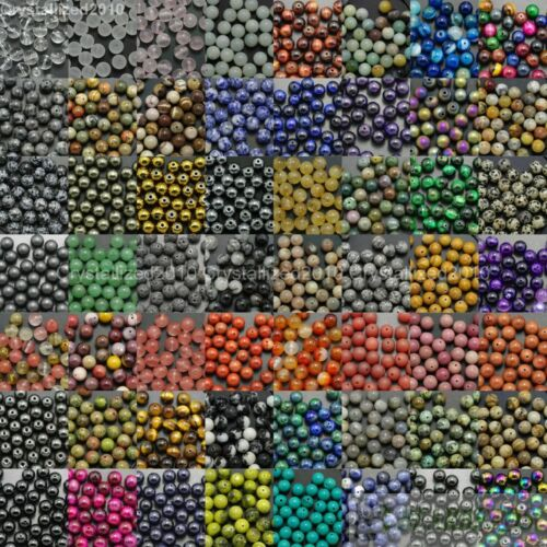 Cuentas Espaciadoras Redondas de Piedras preciosas Naturales 4 mm 6 mm 8 mm 10 mm 12 mm al por mayor variados