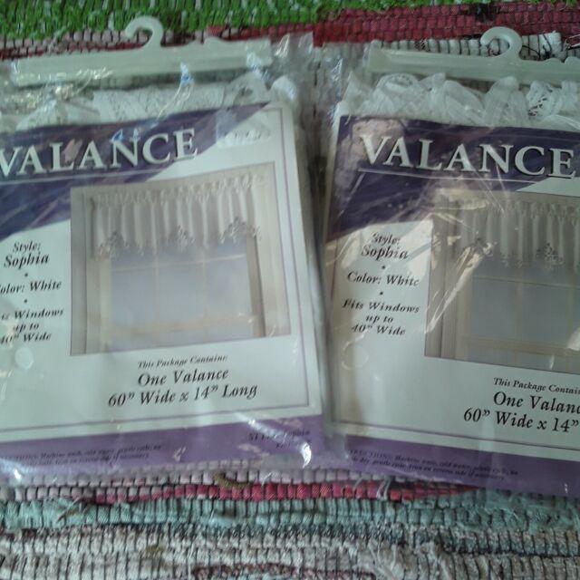 Battenburg Lace Edge Valance White 60x14 Sophia Style Curtain For Sale Online Ebay