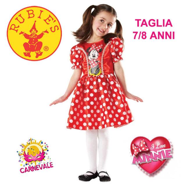 86fb5d0a2173 COSTUME VESTITO DI CARNEVALE BAMBINA TOPOLINA MINNIE 7/8 ANNI RUBIES