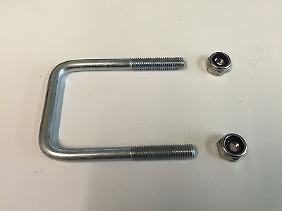 M10 square U-bolt u bolt for Boat trailer 50mm x 90mm x 10mm with Nylocs