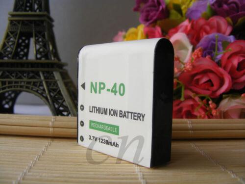 2Pcs batería de la Cámara para DXG-517V DXG517V DXG 517V PAC-0040 1230mAh Casio NP40