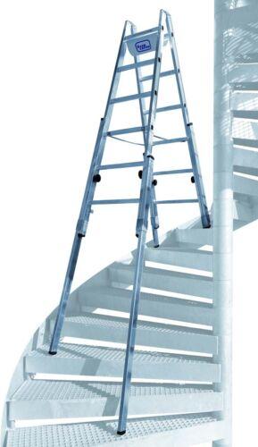 "Iller Aluminium Sprossen Treppenhausleiter /""Multilift/"" 2 x 5, 6, 7, 8 Sprossen"