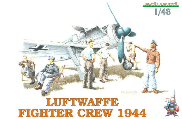 Eduard Luftwaffe Fighter Crew 1944 6 Soldiers Figurines Model Kit Hunter 1:48