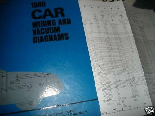 1988 Lincoln Continental Oem Wiring Diagrams Manual Set