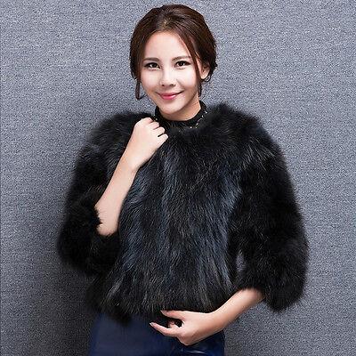 15160 100% Real Raccoon Fur Coat Outwear Women Winter Jacket Fashion Overcoat