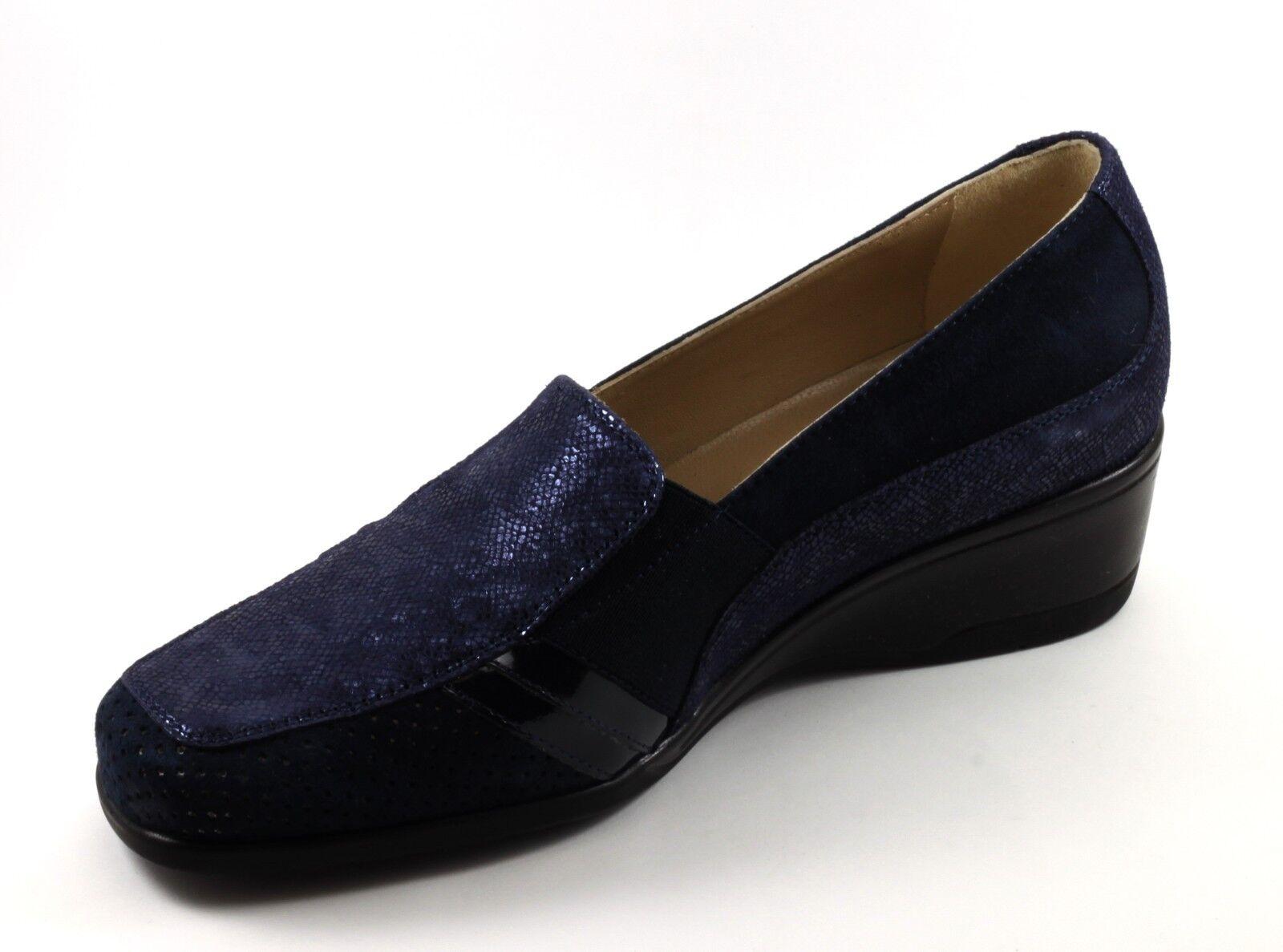 chaussures femmes ELEGANTI MORBIDE CONFORT PELLE PELLE PELLE NABUK TRAFORATE bleu n. 39 c151e1