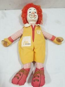 Vintage-Ronald-McDonald-15-034-Plush-Plastic-Face-Suction-Cup-Doll-FREE-USA-SHIP