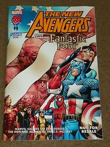 AAFES-Marvel-SALUTES-THE-MILITARY-1-Comic-New-Avengers-Fantastic-Four-2005