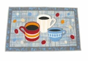 COFFEE-CUPS-MUG-KITCHEN-HOUSE-AREA-RUG-ACCENT-17x28-034-NONSKID-TEA-COLORFUL-BEANS
