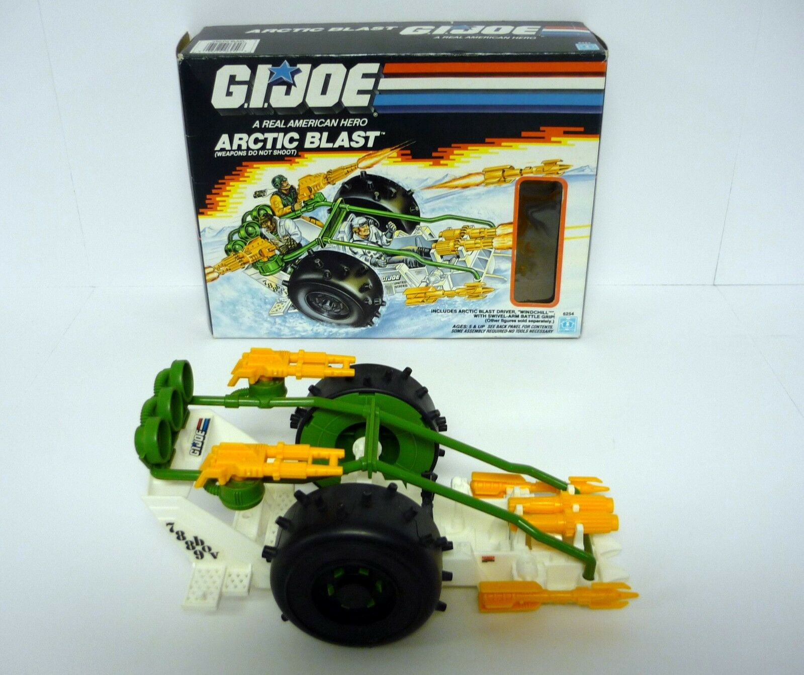 G.I. JOE ARCTIC BLAST BLAST BLAST Vintage Action Figure Vehicle COMPLETE w BOX 1989 0a2178
