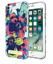 Trina Turk's iphone 7 Floral Designer Cell Phone Case Blue Pink Mint Green CLEAR