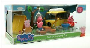 Peppa Peg Family Camping Trip Peppa Pig Daddy Pig 7 pieces camper van picnic bbq