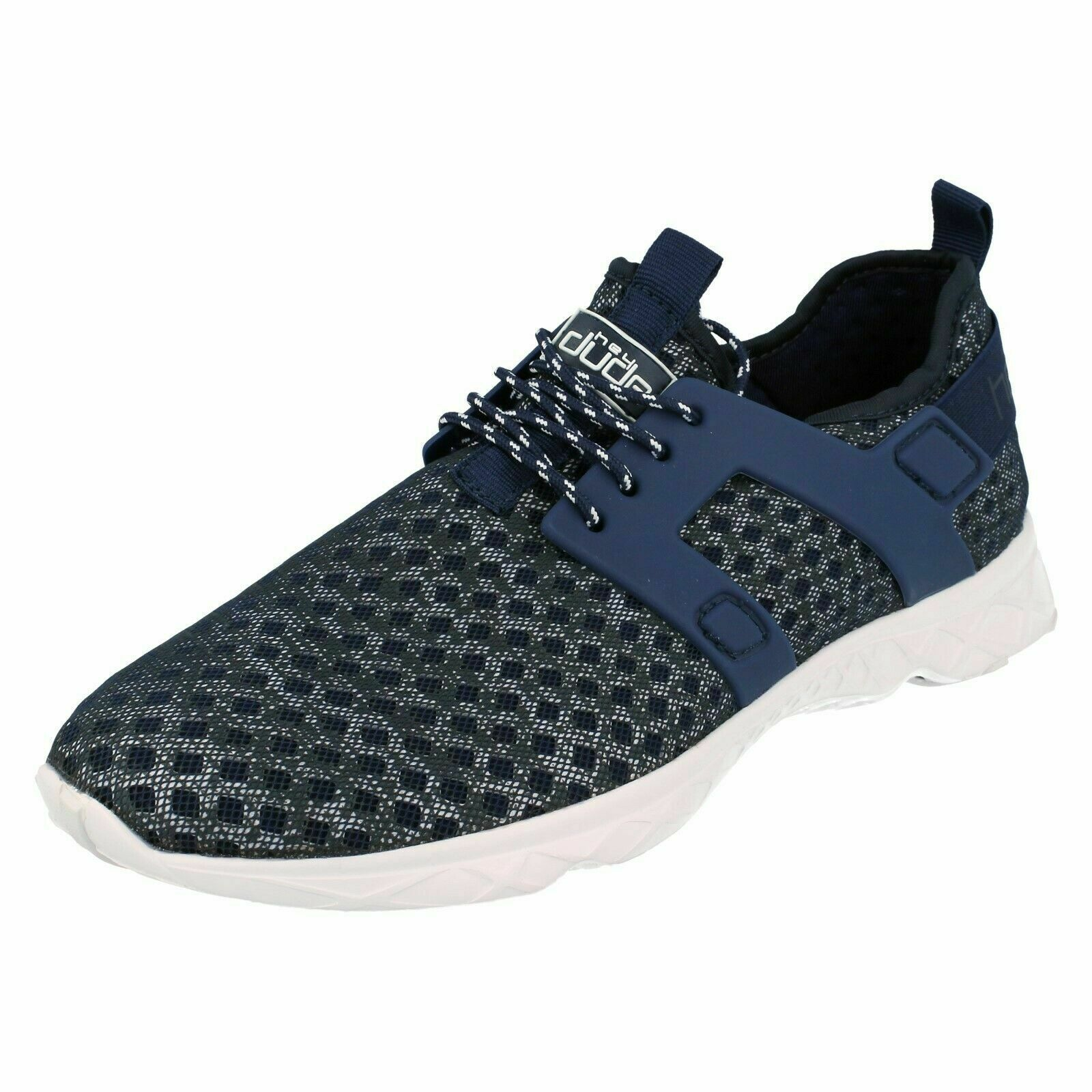 Mens Hey Dude 'Mistral' Navy Melange Canvas Everyday Trainers